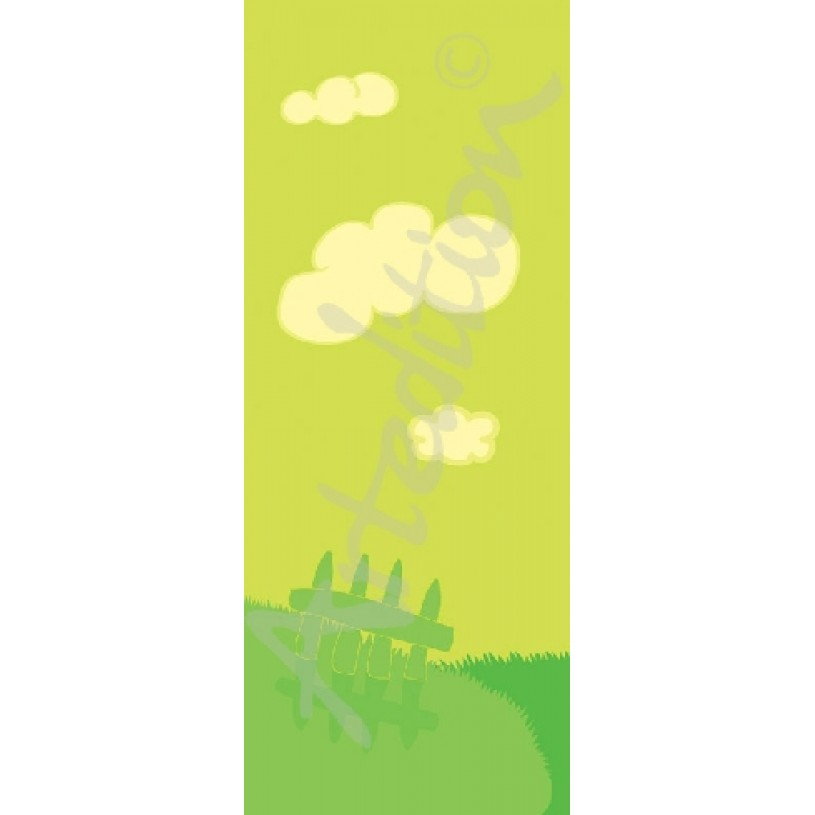 Wallpaper with lime pattern. Kids Room decor AWG2