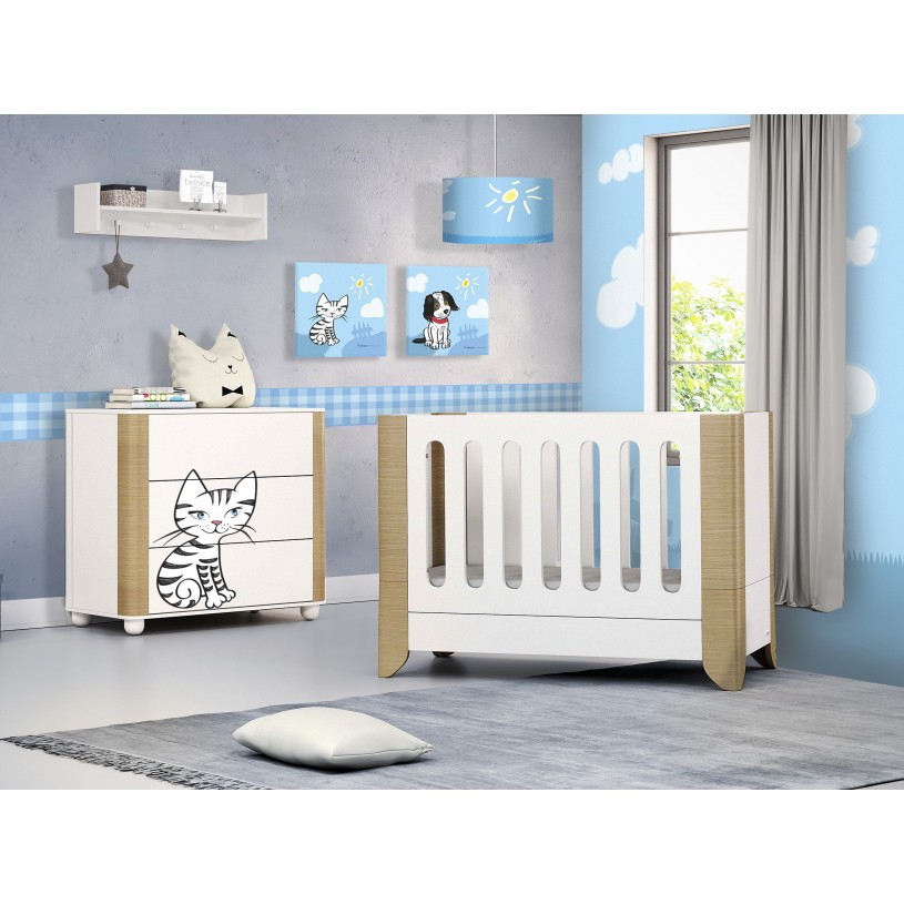 Kids Picture Frame with Cow in light blue colour AFB3